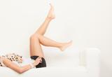 Perfect female legs indoor. - 184649321