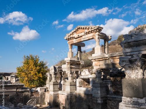 Staande foto Athene Historical ruins in the city in Ephesus, Turkey
