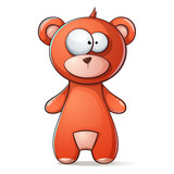 Cute, funny brown bear, grizzly teddy - 184652580