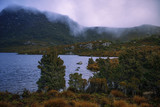 Cradle mountain in Tasmania on a cloudy day. - 184654991