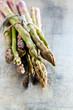 fresh asparagus closeup