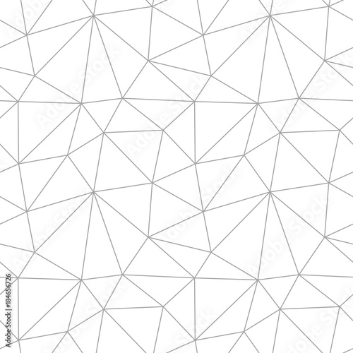 Polygonal seamless background. Geometric line gray pattern for wallpapers and textile