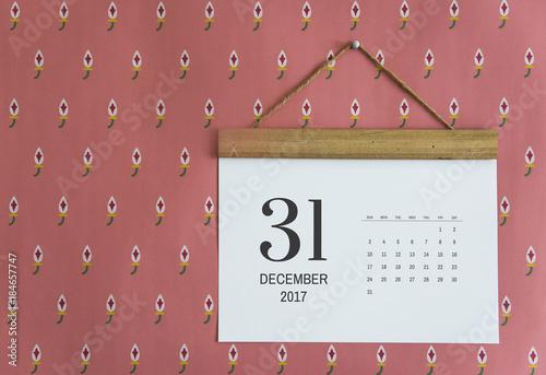 Calendar on the wall