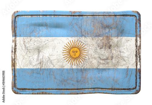 In de dag Buenos Aires Old Argentina flag