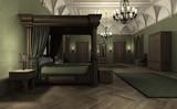 3D Rendering Dark Palace - 184668900