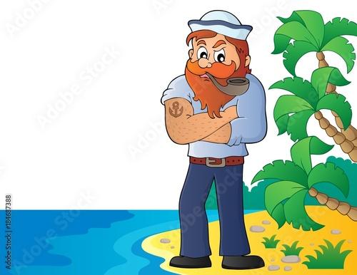 Plexiglas Voor kinderen Sailor topic image 5