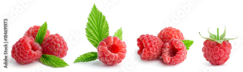 Collection of sweet raspberries - 184691973
