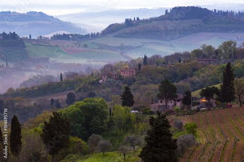 Plexiglas Toscane Typical Tuscan landscape