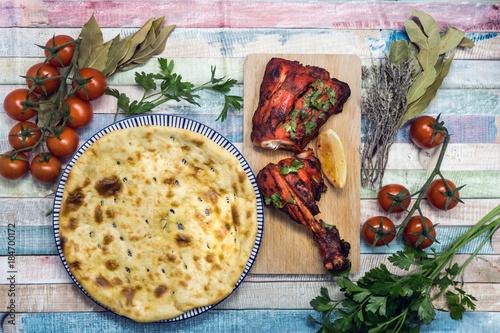 Handmade tandoori Grill Indian food - 184700172