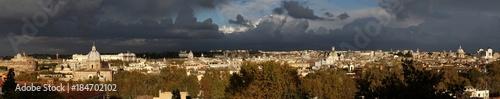 Foto op Canvas Rome Roma, Italia. Vista della città dal Gianicolo