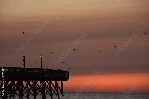 Plexiglas Zee zonsondergang Sunrise in Myrtle Beach South Carolina