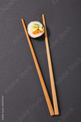 Tuinposter Sushi bar sushi and chopsticks