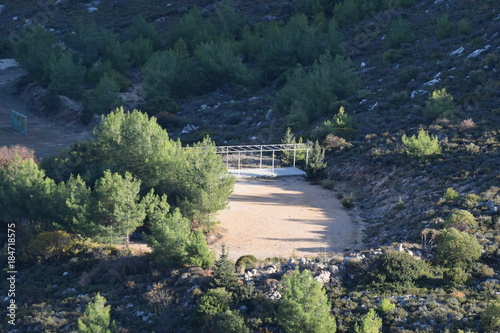Foto op Aluminium Nachtblauw beautiful view of the mountainous landscape of Cyprus