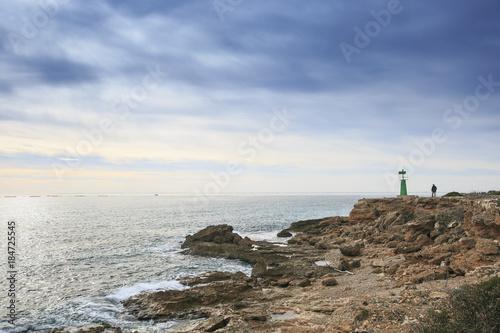 Aluminium Schipbreuk Mediterranean coast in Tarragona . Spain