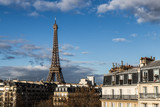 View of Eiffel tower from hotel.