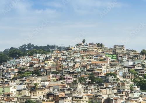 Plexiglas Rio de Janeiro Rio de Janeiro, Brazil hillside shantytown also known as a