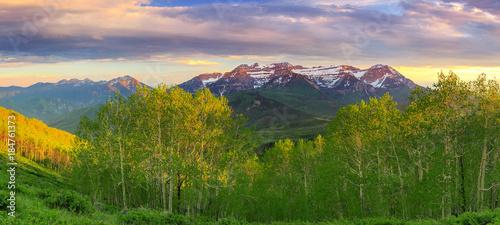 Keuken foto achterwand Beige Spring Timp landscape, Utah, USA.