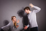 People in fight. Young couple arguing. - 184771796
