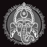 Vector illustration of Ganesha. Hindu god elephant Ganesha. Lineart. - 184781901