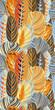 Yellow Orange Jungle Leaf Seamless Vector Pattern