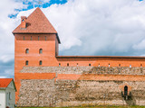 Tower And Wall Of Lida Castle In Belarus - 184798984