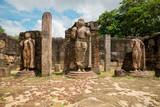 Statue in ancient city of Polonnaruwa, Sri Lanka, Asia