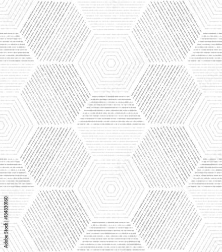 White, gray modern geometric texture. A seamless vector background.. - 184830160