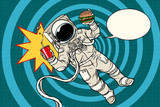 Pop art astronaut street food - 184832558