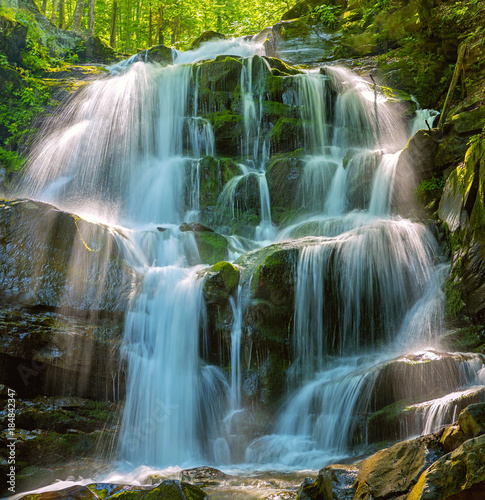 Forest waterfall Shipot. Ukraine, Carpathian mountains.  © Iryna Nazarova