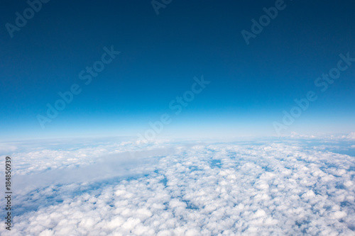 view clouds from the airplane airkraft - 184850939