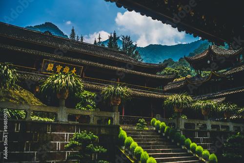Foto op Canvas Grijze traf. buddhist temple