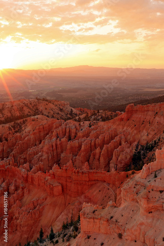 Canvas Rood paars Bryce Canyon Sunrise landscape, Utah, USA.