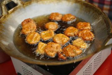 Fried thai takoyaki octopus balls