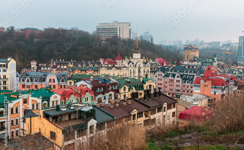 Fotobehang Kiev View On Kiev on cloudy day. Kiev. Ukraine