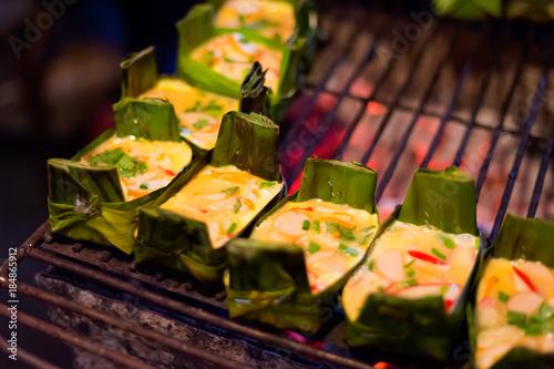 Thai egg omelette barbecue