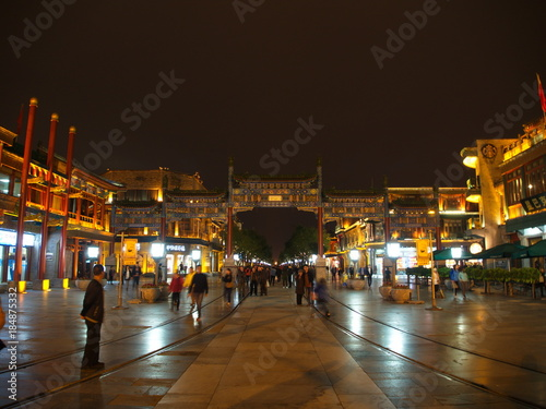 Fotobehang Peking Wangfujing Walking Street in Beijing.Travel in Beijing City, China. 20th October, 2017.