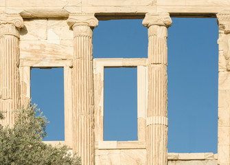 ATHENS, the Erechtheion and the Temple of Athena Nike.