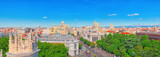 Panoramic view from above on the capital of Spain- the city of Madrid. - 184893109
