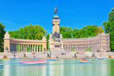 Grand Retreat Pond in  Buen Retiro Park-most largest and most beautiful of the Madrid parks. - 184893157