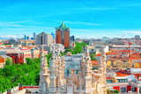 Panoramic view from above on the capital of Spain- the city of Madrid. - 184893958