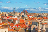 Panoramic view from above on the capital of Spain- the city of Madrid. One of the most beautiful cities in the world. - 184893977