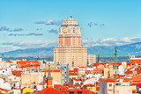 Panoramic view from above on the capital of Spain- the city of Madrid. One of the most beautiful cities in the world. - 184893980