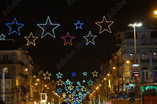 Foto op Canvas Brussel Christmas light in Brussels