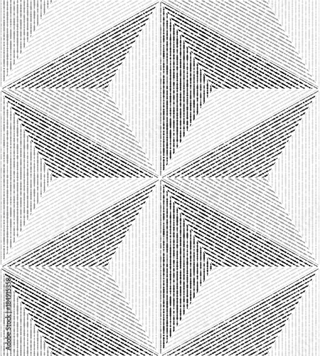 White, gray modern geometric texture. A seamless vector background. - 184915358