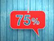 Seventy five Percent Concept - 3D Rendered Image
