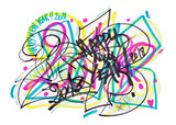 2018 Colorful Doodle Graffity