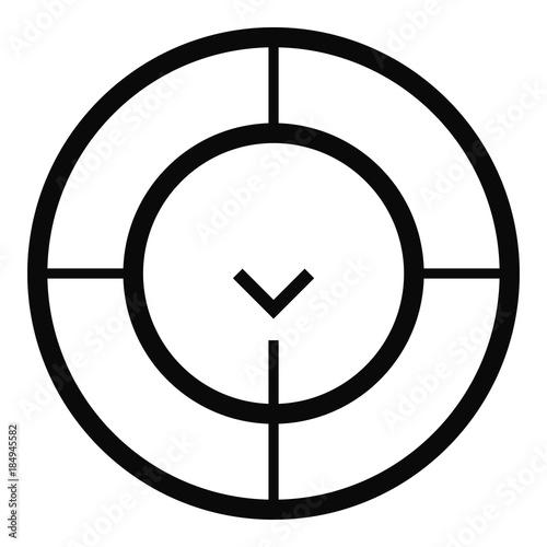 Check Of Radar Icon Simple Illustration Of Check Of Radar Vector