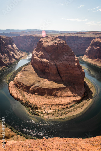 Tuinposter Chocoladebruin Landscape view of Horseshoe Bend in Page Arizona.