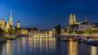 Leinwanddruck Bild - Panorama von Zuerich