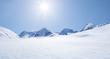 canvas print picture - Schneelandschaft